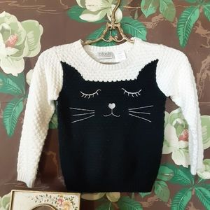BLUSH Kitty Cat Sweater with Paw Elbow Patches